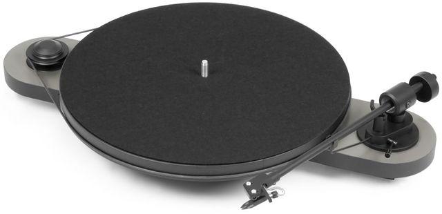 Pro-Ject Manual Turntable-Silver/Black-Elemental-SV