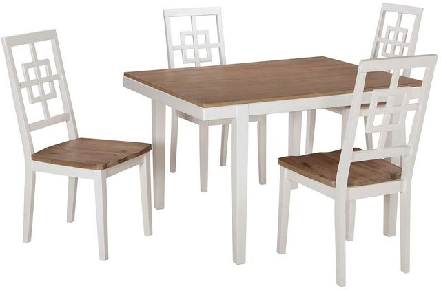 Ashley® Brovada 5 Pieces Set with Dining Table and 4 Chairs-D298-225