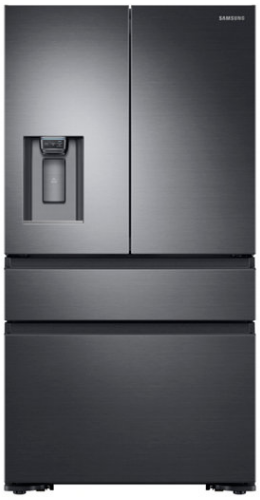 Samsung 23 Cu. Ft. Counter Depth French Door Refrigerator-Fingerprint Resistant Black Stainless Steel-RF23M8070SG