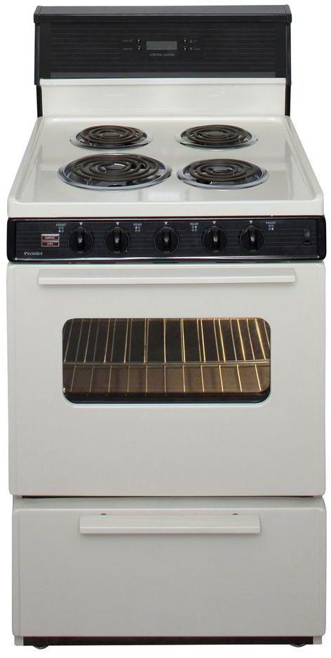 "Premier 24"" Biscuit Free Standing Electric Range-ECK240TP"