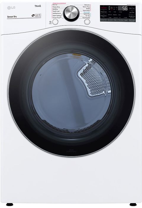 LG 7.4 Cu. Ft. White Front Load Gas Dryer-DLGX4201W