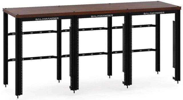 Salamander Designs® Synergy Triple 30 Extension Rack-Dark Walnut/Black-SLX30RMW/B