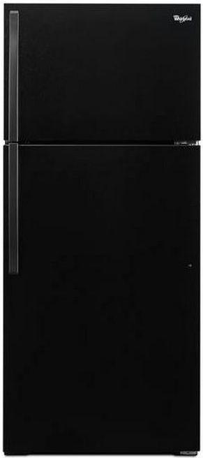 Whirlpool® 16.0 Cu. Ft. Top Freezer Refrigerator-Black-WRT106TFDB