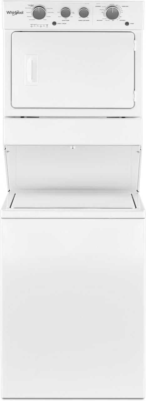 Whirlpool® Gas Long Vent Stacked Laundry-White-WGTLV27HW