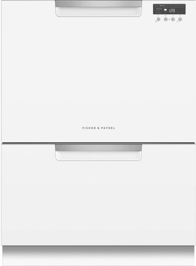 """Fisher & Paykel Series 7 24"""" White Double DishDrawer™ Dishwasher-DD24DCTW9 N"""