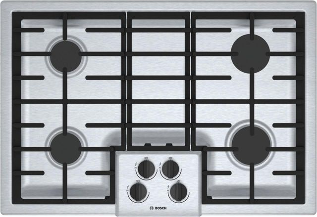 """Bosch 500 Series 30"""" Gas Cooktop-Stainless Steel-NGM5056UC"""