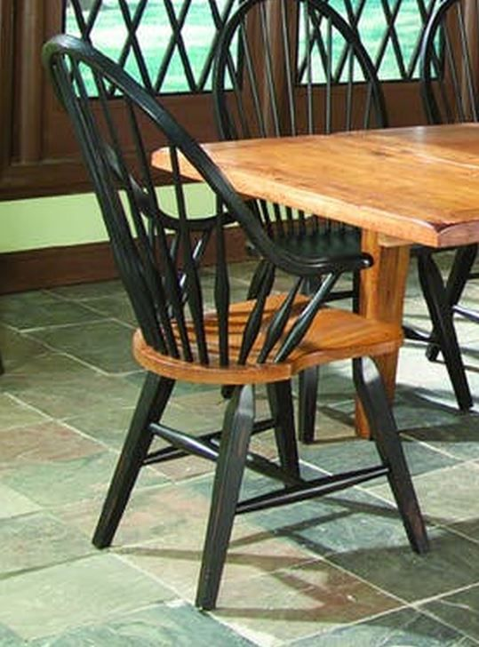 Intercon Rustic Traditions Windsor Arm Chair-RT-CH-1608A-BLR-SU