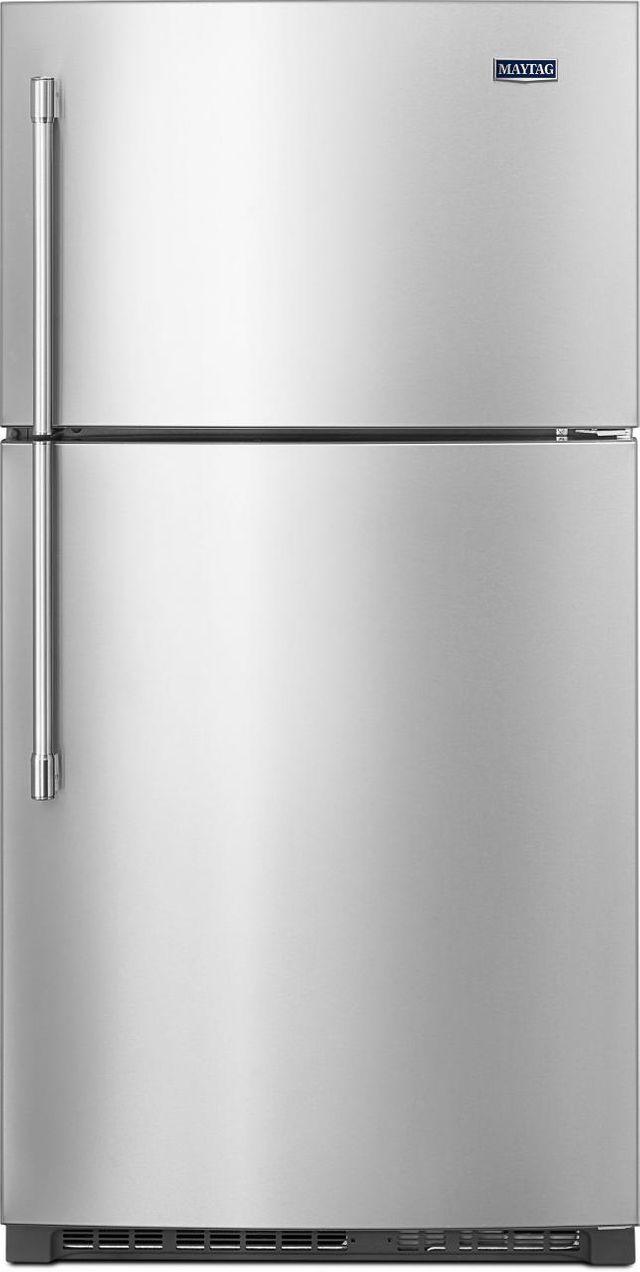 Maytag® 21.24 Cu. Ft. Fingerprint Resistant Stainless Steel Top Freezer Refrigerator-MRT711SMFZ