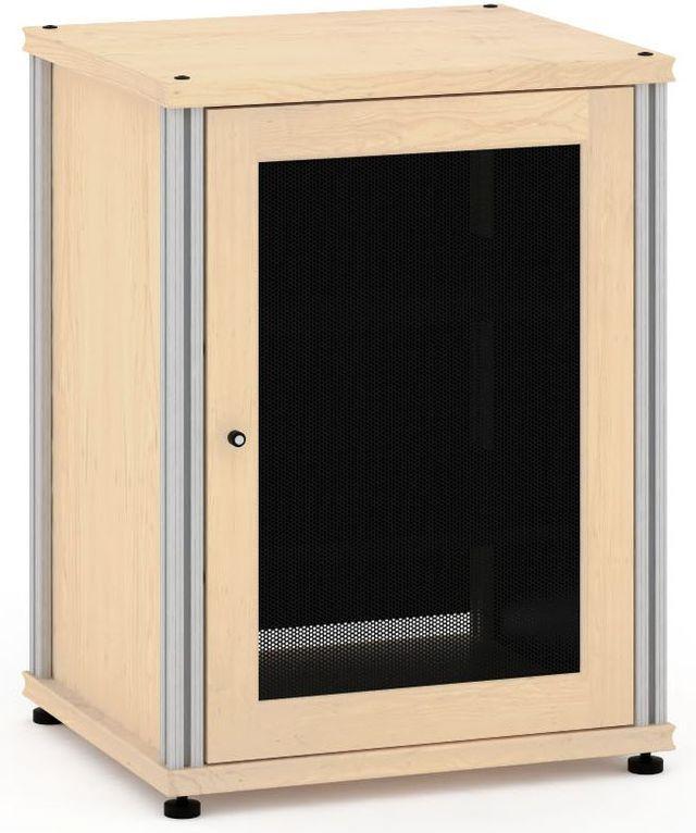 Salamander Designs® Synergy Model 303 AV Cabinet-Natural Maple/Aluminum-SB303M/A