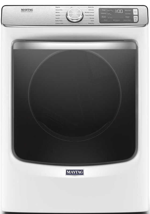 Maytag® 7.3 Cu. Ft. White Front Load Gas Dryer-MGD8630HW