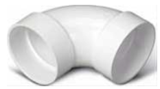 """Broan® 2"""" White 90° Sweep Elbow-V121"""
