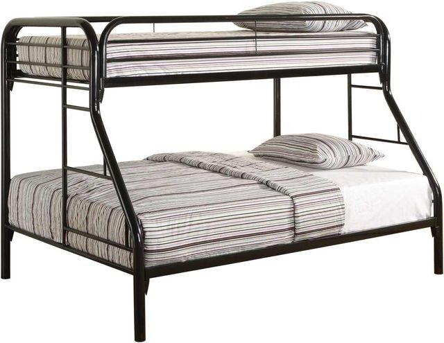 Coaster® Morgan Black Twin Over Full Bunk Bed-2258K