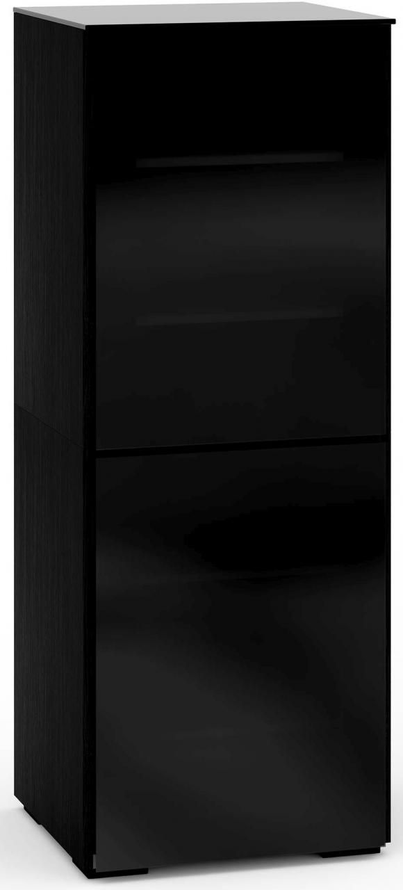 Salamander Designs® Oslo 617 AV Cabinet-Black Glass-C/OS617/BG