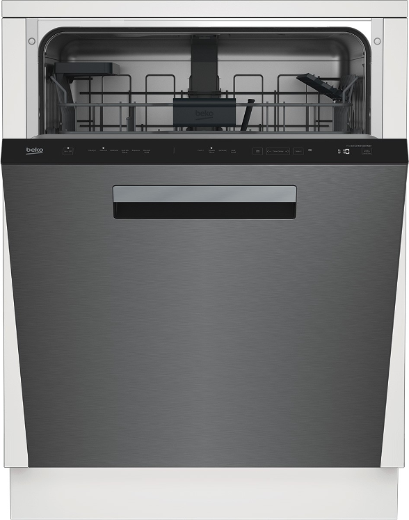 "Beko 24"" Fingerprint Free Stainless Steel Built In Dishwasher-DDT36430XIH"