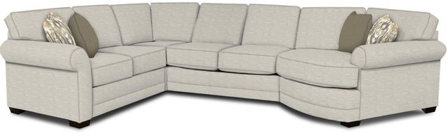 England Furniture Co. Brantley 4 Piece Culpepper Snow/Alvarado Mineral/Mosaic Seafoam Sectional-5630-28-22-43-95+8613+8121+8601