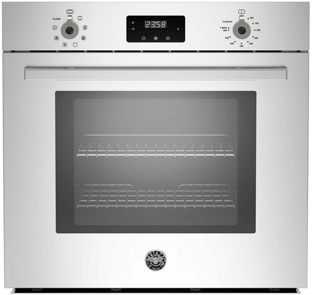 """Bertazzoni Professional Series 30"""" Stainless Steel Electric Single Oven Built In-PROFS30XV"""