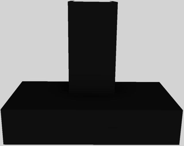 "Vent-A-Hood® 42"" Contemporary Wall Mounted Range Hood-Black-CWEH9-142 BL"