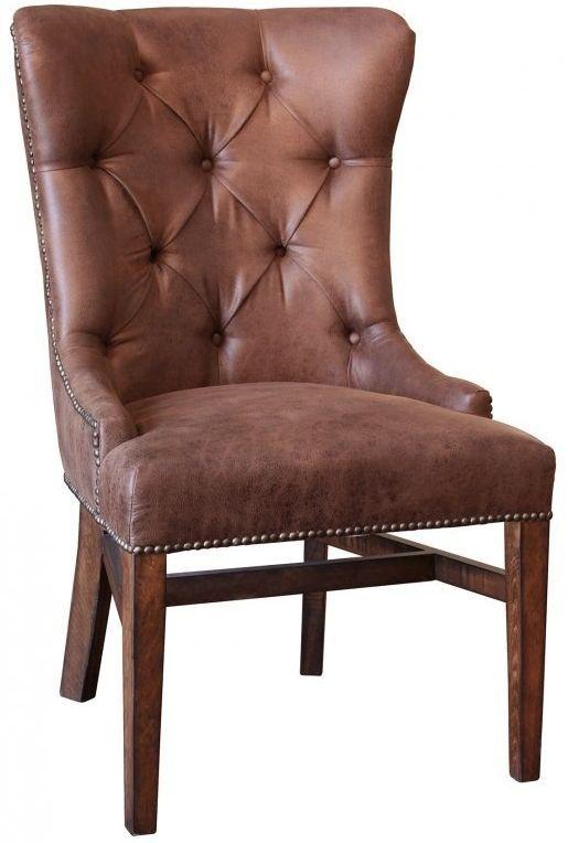 International Furniture© (2x) 1020 Terra Brown Side Chairs-IFD1020CHAIR-T