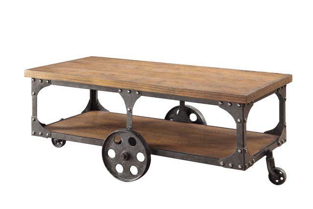 Coaster® Roy Rustic Brown Coffee Table-701128
