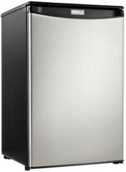 Danby® Designer Series 4.4 Cu. Ft. Compact All Refrigerator-Black/Stainless Steel-DAR044A4BSLDDU