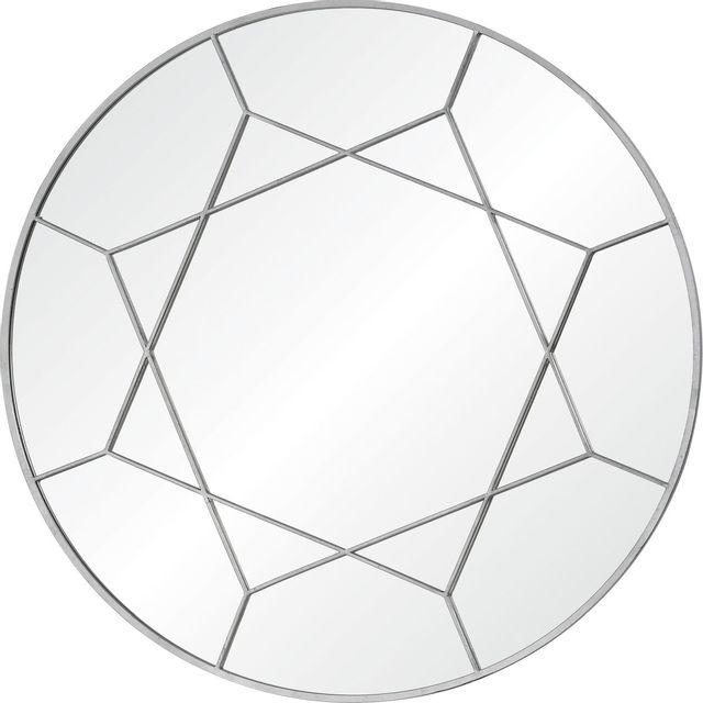 Miroir mural Lamarr, feuille d'argent pur, Renwil®-MT2363