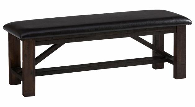 Jofran Inc. Kona Grove Deep Chocolate Upholstered Bench-705-20KD