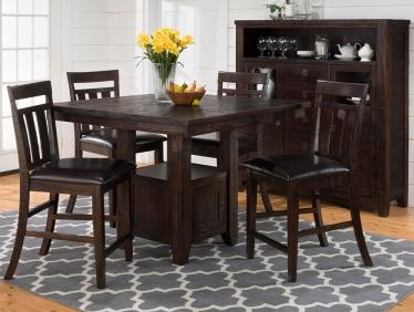 Jofran Inc. Kona Grove Pub Table and Chair Set-705-48-4x705-BS410KD