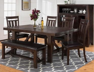 Jofran Inc. Kona Grove Dining Table, Chair and Bench Set-705-79-4x705-410KD