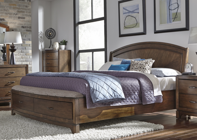 Liberty Avalon lll Bedroom King Panel Storage Bed, Dresser, Mirror and Night Stand Collection-705-BR-KPBSDMN