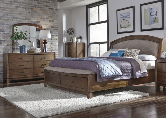 Liberty Avalon lll Bedroom King Storage Bed, Dresser, Mirror and Chest Collection-705-BR-KSBDMC