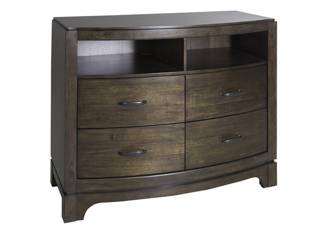 LibLiberty Furniture Avalon III Pebble Brown Media Chest-705-BR45
