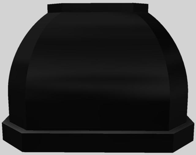 "Vent-A-Hood® Designer Series 42"" Wall Mounted Range Hood-Black-JCH142/C1 BL"
