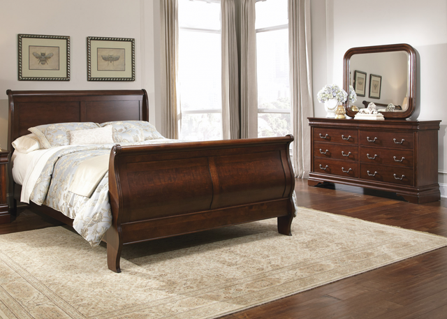 Liberty Carriage Court Bedroom King Sleigh Bed, Dresser and Mirror Collection-709-BR-KSLDM
