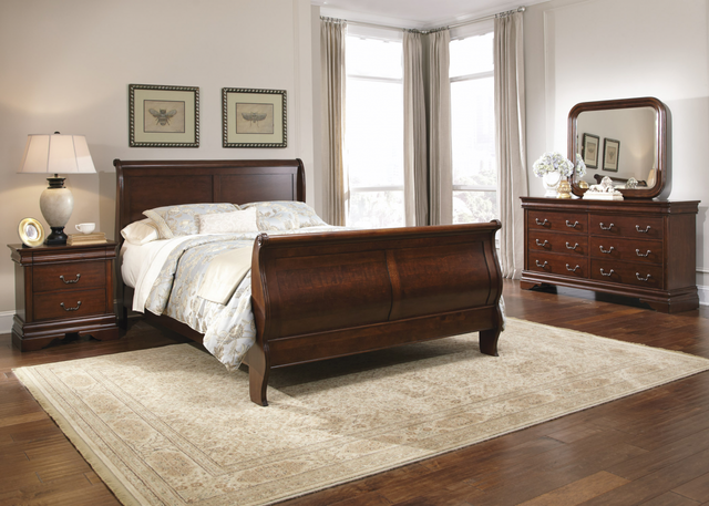 Liberty Carriage Court Bedroom King Sleigh Bed, Dresser, Mirror and Night Stand Collection-709-BR-KSLDMN