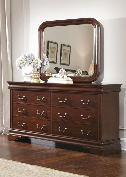 Liberty Furniture Carriage Court Mahogany 8 Drawer Dresser-709-BR31
