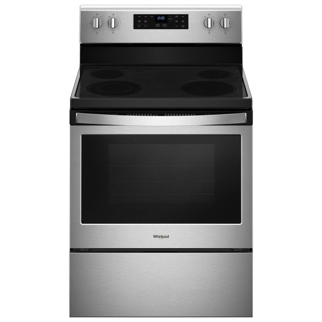 Whirlpool® 5.3 Cu. Ft. Black On Stainless Free Standing Electric Range-YWFE521S0HS