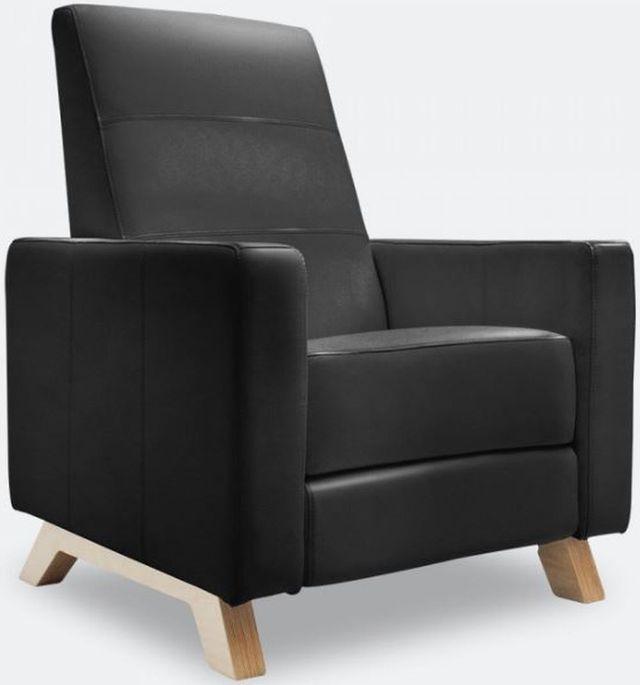 Fauteuil inclinable berçant Baby Comfort en cuir noir Dutailier®-311 126