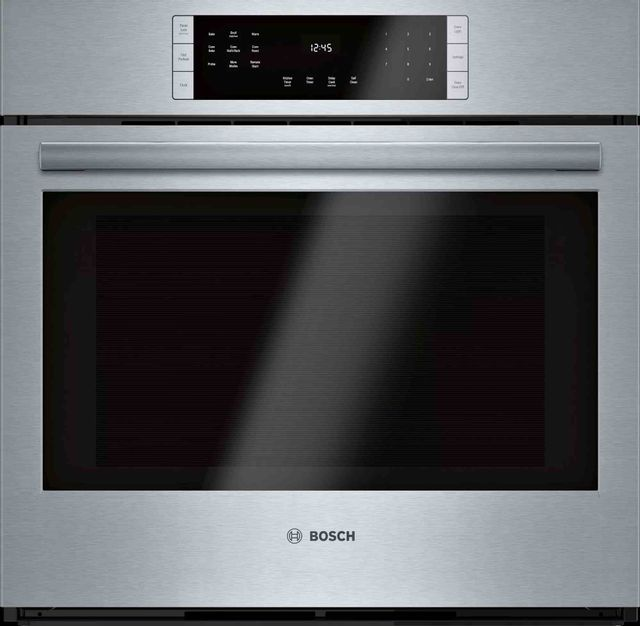 """Bosch 800 Series 29.75"""" Stainless Steel Electric Single Oven Built In-HBL8453UC"""