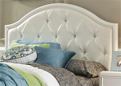 Liberty Furniture Stardust Iridescent White Youth Twin Panel Headboard-710-BR11HU