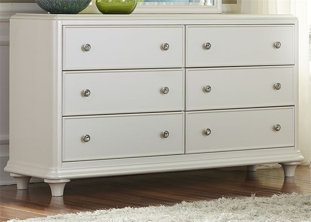 Liberty Furniture Stardust Iridescent White Youth Dresser-710-BR30