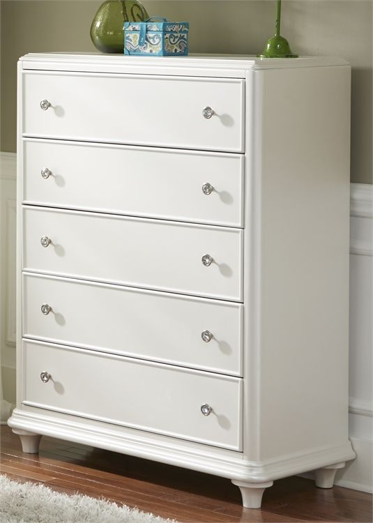 Liberty Furniture Stardust Iridescent White Youth Chest-710-BR40