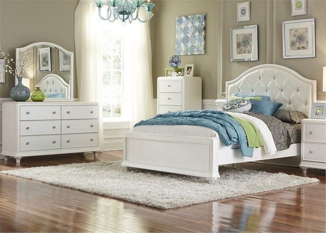 Liberty Furniture Stardust3 Piece Iridescent White Youth Twin Bedroom Set-710-YBR-TPBDM