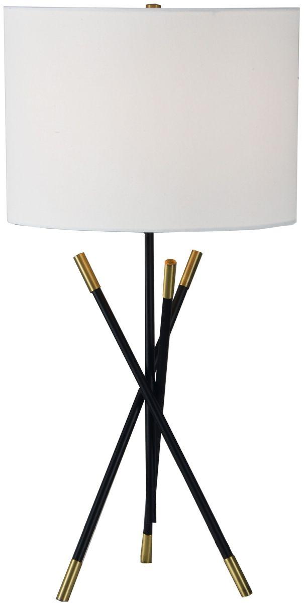 Renwil® Hudswell Black Powder Table Lamp-LPT891