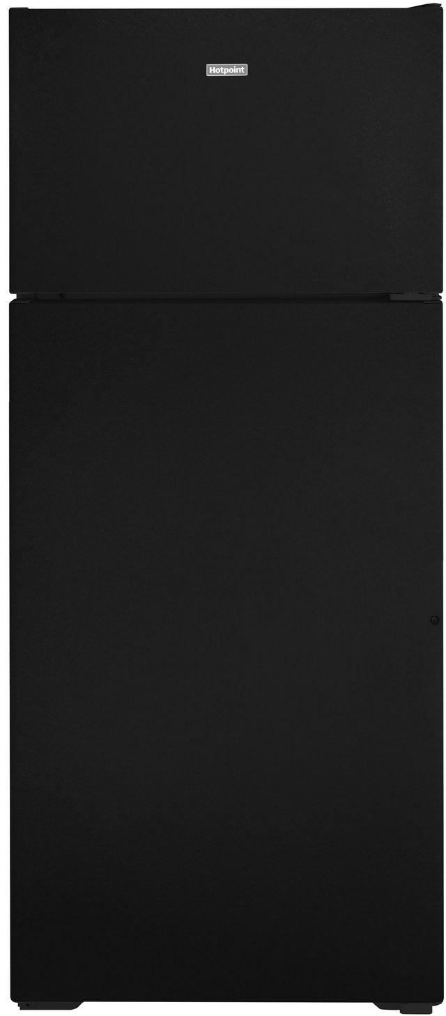 Hotpoint® 17.52 Cu. Ft. Black Top Freezer Refrigerator-HPS18BTNRBB
