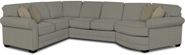 England Furniture Co. Brantley 4 Piece Culpepper Cement/Alvarado Mineral/Clever Tweed Sectional-5630-28-22-43-95+8612+8103+8601