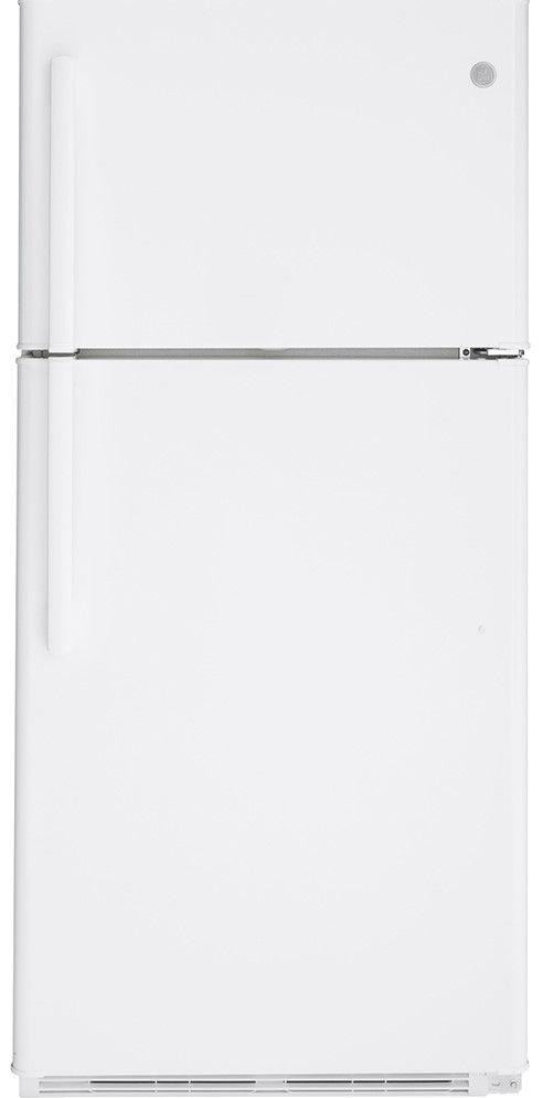 Réfrigérateur à congélateur supérieur de 30 po GE® de 18,0 pi³ - Blanc-GTE18FTLKWW