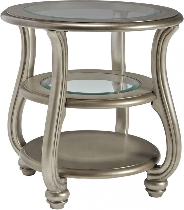Signature Design by Ashley® Coralayne Silver Finish Round End Table-T820-6