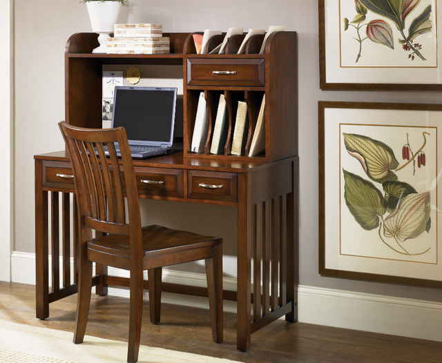 Liberty Furniture Hampton Bay Home Office-Cherry Writing Desk-718-HO111