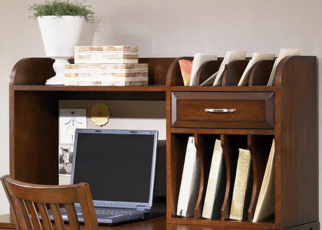 Liberty Furniture Hampton Bay Home Office-Cherry Writing Desk Hutch-718-HO140