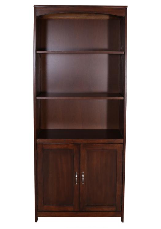 Liberty Furniture Hampton Bay Home Office-Cherry Door Bookcase-718-HO202